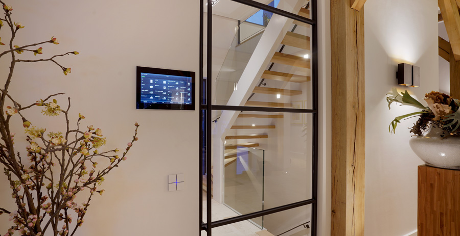Controlmini as central KNX control unit in Dutch house