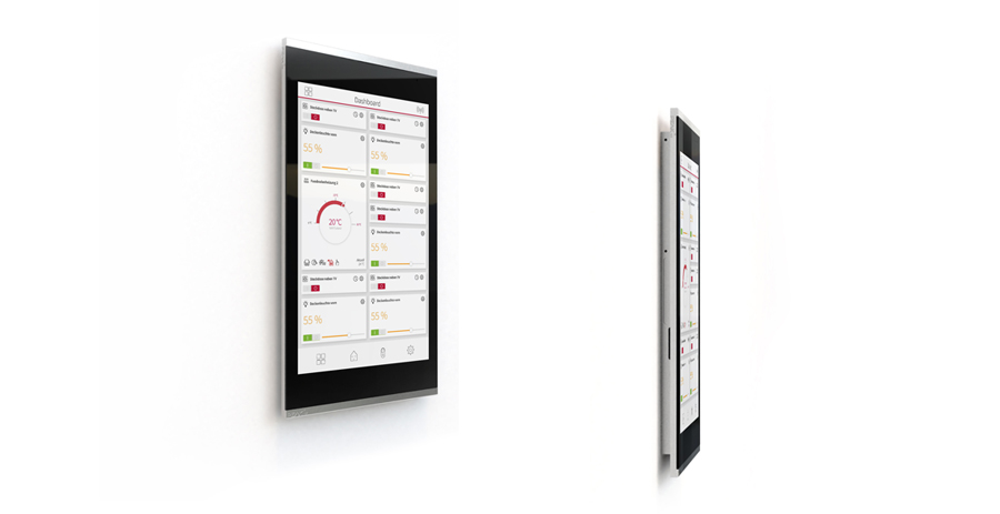 Light + Building: PEAKnx presents the 8'' touch panel Controlmicro