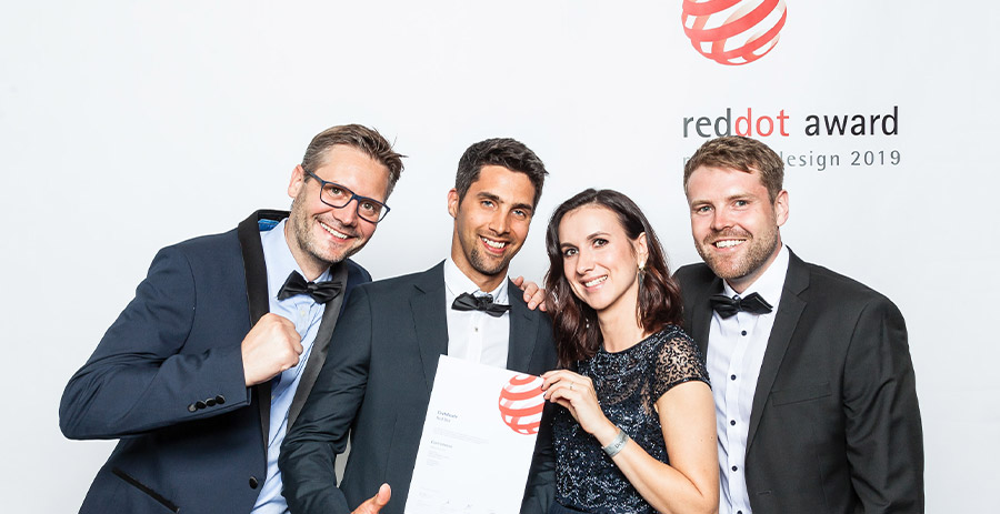 Award ceremony at Red Dot Designers' Night