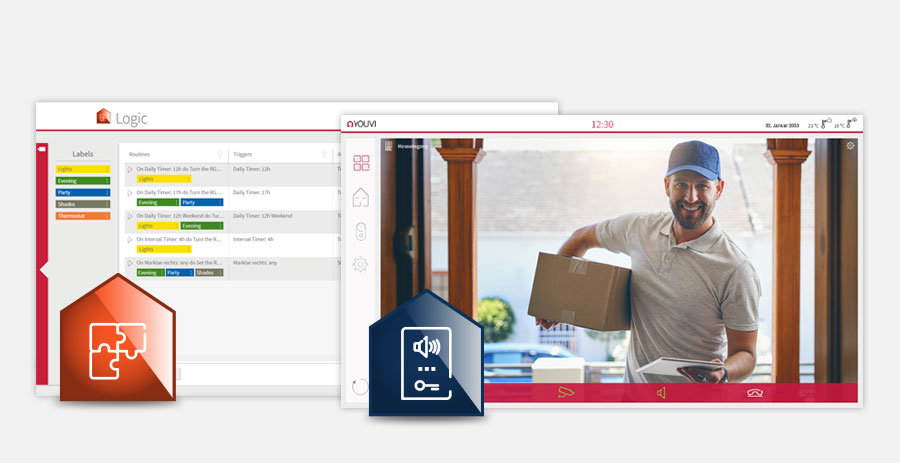 Light + Building: PEAKnx präsentiert YOUVI Logik- und Türstationsmodul